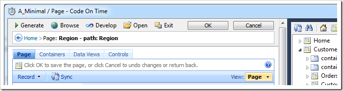 Buttons OK and Cancel are displayed on the Project Designer tool bar when working properties of existing project configuraiton elements
