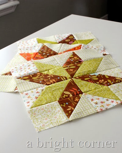 Star blocks from A Bright Corner