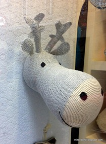 Knitted reindeer head