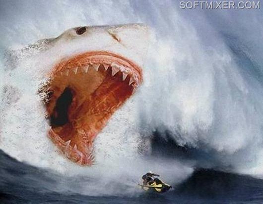 Акула-мегалодон-в-океане