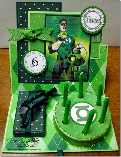 The Green Lantern Birthday Cake Easel Card2