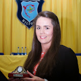 Roisin Boyce, Best Leaving Cert at the Mulroy College prize giving on Thursday night last. Photo Clive Wasson.