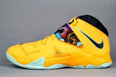 nike zoom soldier 7 gr yellow pop art 4 16 Nike Soldier VII Coconut Groove aka Pop Art available at Eastbay