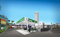 Artist's impression of Clean Energy Fuels LNG station hosted by Pilot Flying J in Thousand Palms, Calif. Chesapeake Energy is investing $150 million in Clean Energy to speed Clean Energy's previously announced alliance with Pilot Flying J (F&F, July 18)