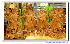 【八寸八佛教護法四大天王】台灣檜木精緻立體雕刻~專業佛堂規劃@板橋九龍佛具