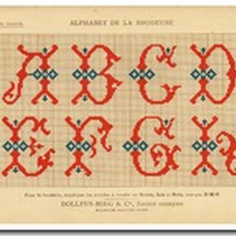 Alfabetos en puntos de cruz