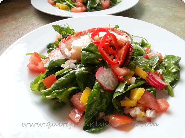 Lobster & mango salad 2