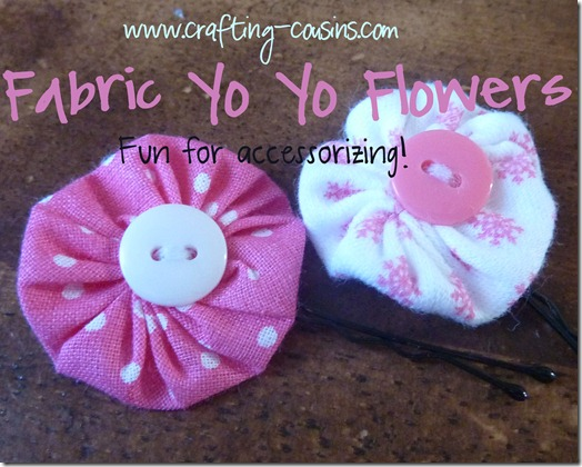 Crafty Cousins' tutorial for yo yo flower bobby pins (19)