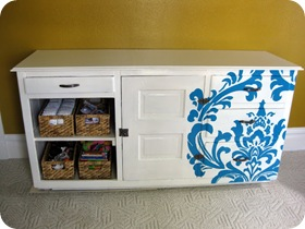 Damask Changing Table