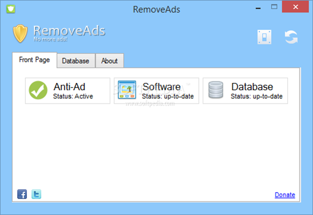 برنامج RemoveAds 1.5 لغلق و منع الإعلانات نهائيا على صفحات الإنترنت