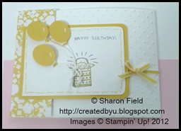 shop online for supplies for the pretty birthday balloon yellow card