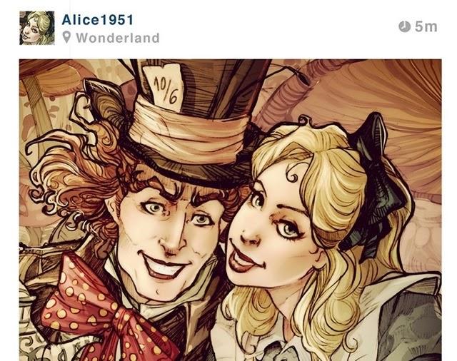 Los encantadores y ridículos selfies de las princesas de Disney