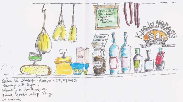 Queen Victoria Market sketch