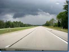 4873 Michigan - near Kinross, MI - I-75 - stormy skies