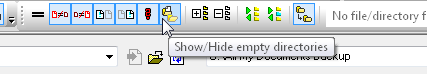 DiffDog Show/Hide empty directories toolbar button
