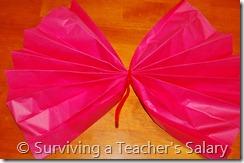 pink diy truffula tree tissue paper