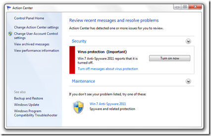 Remove Win 7 Anti-Spyware 2011 And Fake Anti-Virus