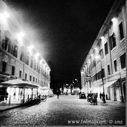 Corso Martiri della libertà by night, Ferrara, Emilia Romagna,Italy- Property and Copyrights of fedetails.net