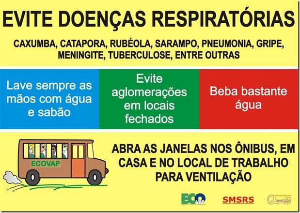 Cartaz Doenças Respiratórias