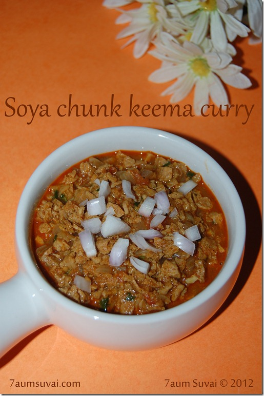 Soya chunk keema curry