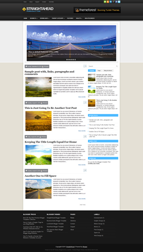 StraightAhead-Premium Kalitede Blogger Teması