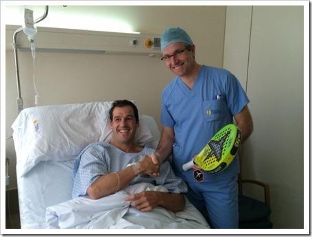Juan Martín Díaz pasa por quirófano y se resuelve con éxito su operación de menisco.