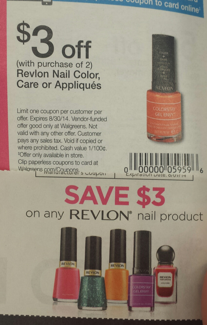 Free manicure coupons