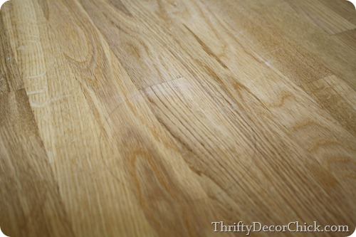 sanding down butcher block
