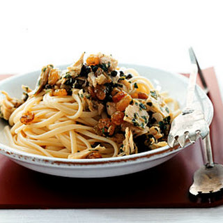 Linguine with Tuna, Capers, and Raisins