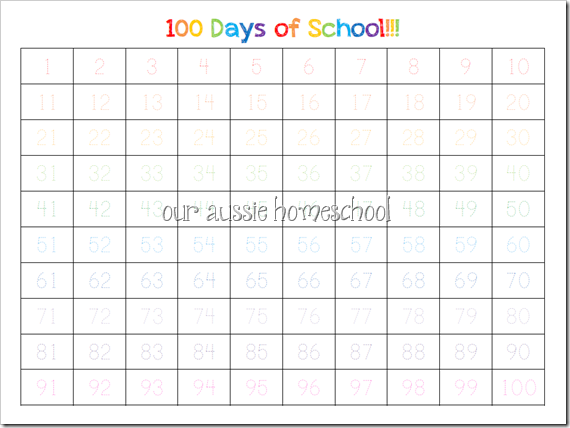 Free! Colourful Calendar Notebook Pages from Our Aussie Homeschool