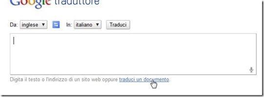 traduci documento