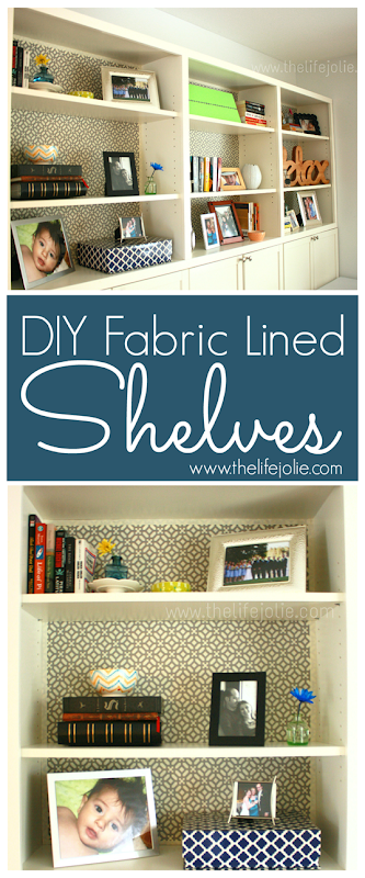 fabric lines shelves