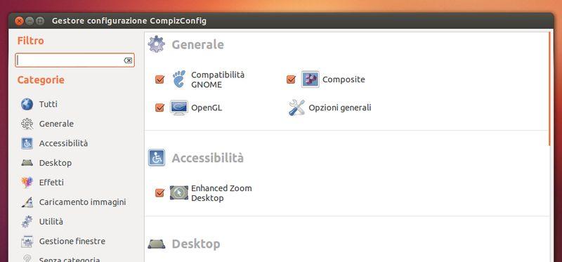 Compiz CCSM in Ubuntu Linux
