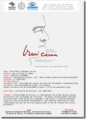 Convite Laramara - Vinicius de Moraes