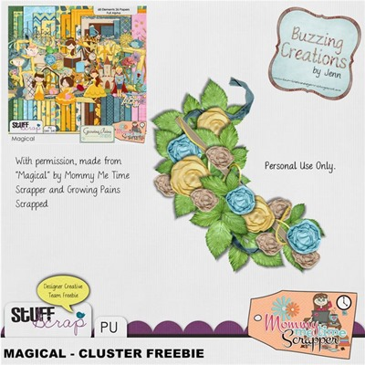 Mommy Me Time Scrapper - Magical - Cluster Preview