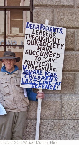 'Lone Anti Gay Protester' photo (c) 2010, William Murphy - license: http://creativecommons.org/licenses/by-sa/2.0/