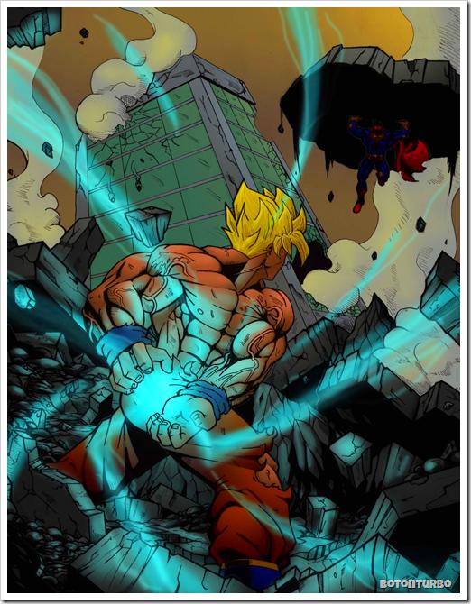 Goku Kamehameha vs Superman