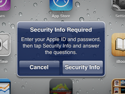Apple asking for additional security info