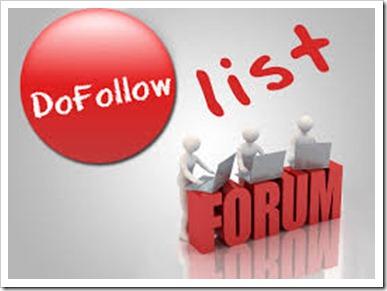 Do-follow forums list