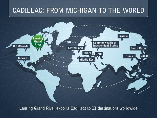 Cadillac/Lansing Grand River Plant Exports