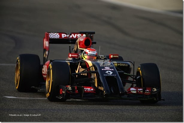 2014 F1 Pre Season Test 2 - Day 4 Bahrain International Circuit, Bahrain. Saturday 22 February 2014. Pastor Maldonado, Lotus E22 Renault. World Copyright: Glenn Dunbar/Lotus F1. ref: Digital Image _W2Q4561