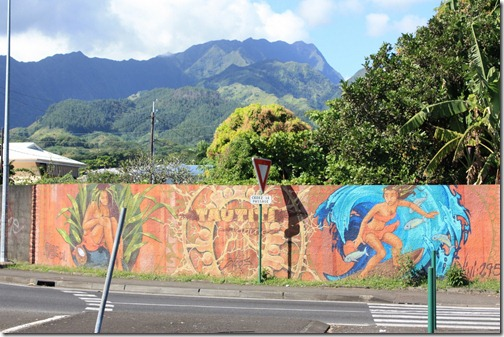 Graffiti in Tahiti (ok, mural but that doesn't rhyme