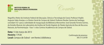 IFCE SOBRAL - CONVITE ELETRONICO