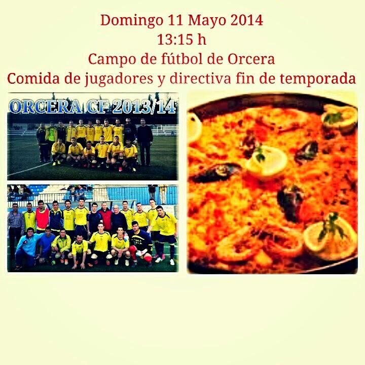 Comida fin de temporada 2013 14 orcera c f blog oficial for Piscina municipal de orcera