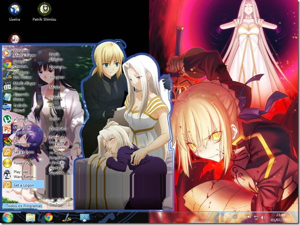 Tema Fate Zero para Win7