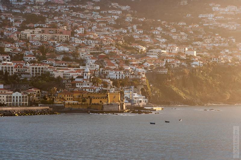 21. Февраль. Мадейра. Канатная дорога. Фуншал. Жёлтенький замок у самого берега.