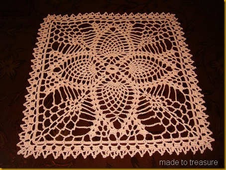 One Last Square Doily In This Series Made To Treasure
