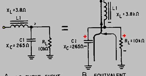 Ac component in an lc choke-input filter , resistor