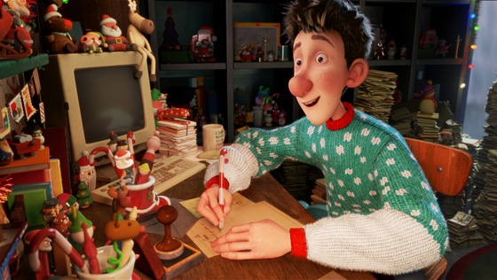 Arthur (voiced by James McAvoy) in ARTHUR CHRISTMAS, an animated film produced by Aardman Animations for Sony Pictures Animation.