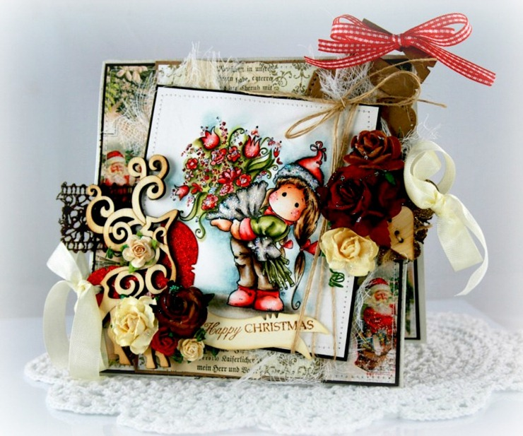 Claudia_Rosa_Tilda w christmas flowers_1